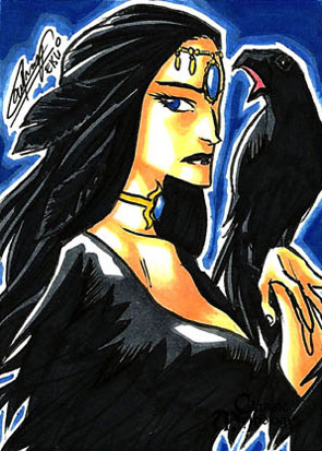 The Morrigan Sketch Card  Remy Mokhtar
