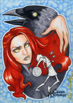 The Morrigan Sketch Card - Kate Bradley