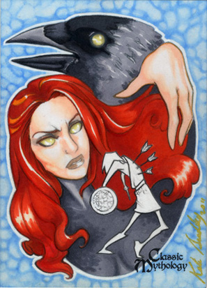 The Morrigan Sketch Card - Kate Bradley