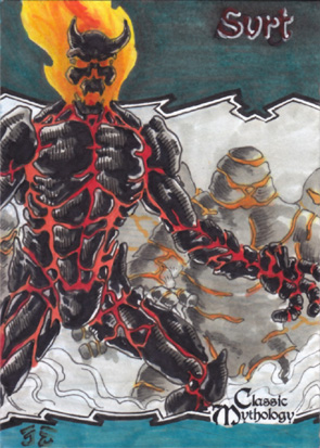 Surtr Sketch Card - Nestor Celario Jr.