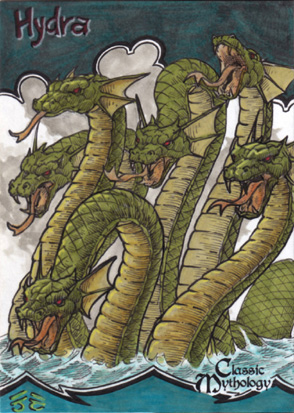 Hydra Sketch Card - Nestor Celario Jr. by Pernastudios