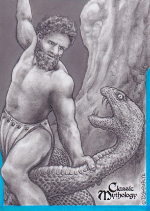 Heracles Sketch Card - J.D. Seeber