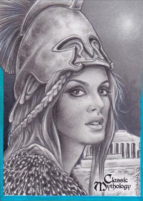 Athena Sketch Card - J.D. Seeber