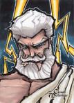 Zeus Sketch Card - Matthew J Fletcher
