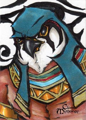 Horus Sketch Card - Matthew J Fletcher by Pernastudios