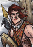 Cuchulainn Sketch Card - Matthew J Fletcher