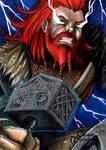 Thor Sketch Card - Jack Redd