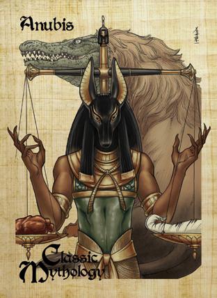 Anubis Base Card Art - Mel Uran by Pernastudios