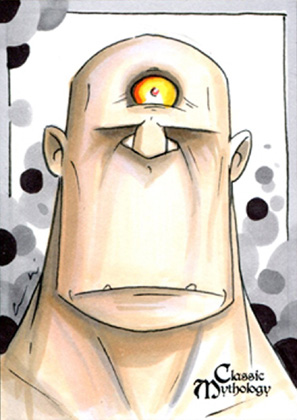 Cyclopes Sketch Card - Chris Uminga