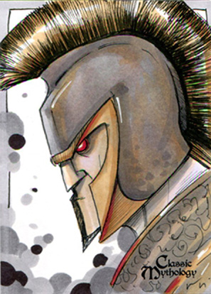 Achilles Sketch Card - Chris Uminga