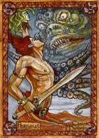 Perseus Sketch Card - Soni Alcorn-Hender by Pernastudios