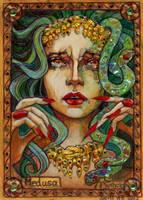 Medusa Sketch Card - Soni Alcorn-Hender by Pernastudios