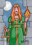 Brigid Sketch Card - Elaine Perna