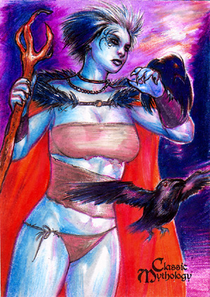 The Morrigan Sketch Card - Keith O'Malley