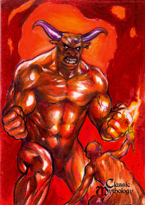 Minotaur Sketch Card - Keith O'Malley