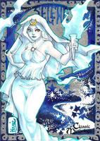 Selene Sketch Card - Hanie Mohd by Pernastudios