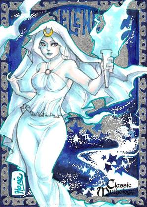 Selene Sketch Card - Hanie Mohd