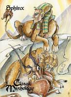 Sphinx Base Card Art - Sara Richard by Pernastudios