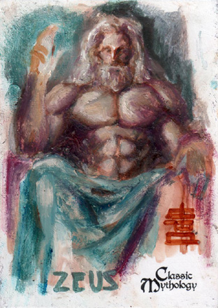 Zeus Sketch Card - BARD! by Pernastudios