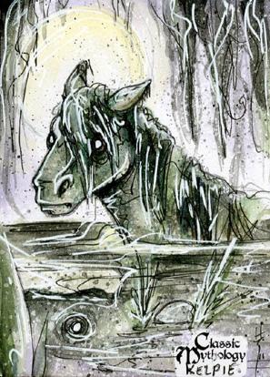Kelpie Sketch Card - Sara Richard by Pernastudios