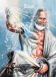Zeus Base Card Art - Mick Glebe