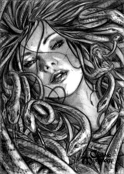 Medusa Sketch Card - Craig Yeung