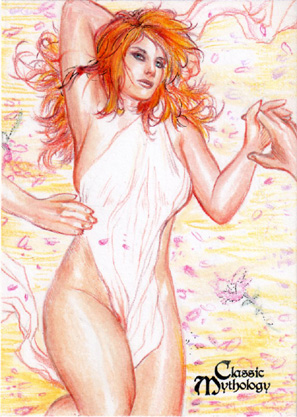 Aphrodite Sketch Card - Keith O'Malley