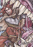 Vidar vs Fenrir Sketch Card - Amber Shelton