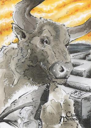 Minotaur Sketch Card - Francois Chartier