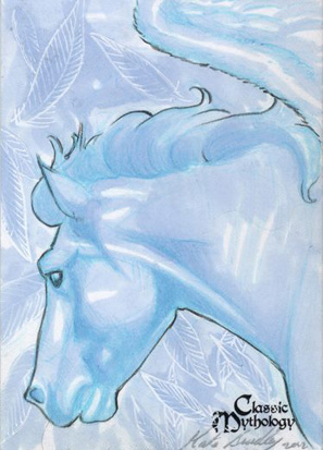 Pegasus Sketch Card - Kate Bradley