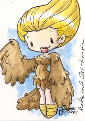 Harpy Sketch Card - Katie Cook