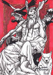 Odin Sketch Card - Nestor Celario Jr.