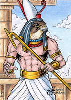Horus Sketch Card - Tony Perna by Pernastudios