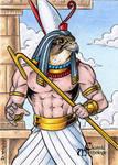 Horus Sketch Card - Tony Perna