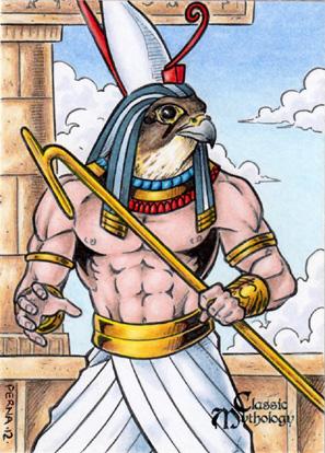 Horus Sketch Card - Tony Perna by Pernastudios