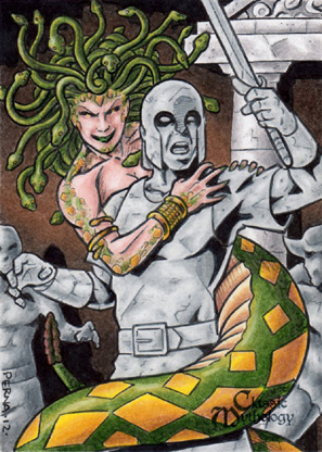 Medusa Sketch Card - Tony Perna