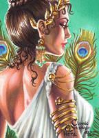 Hera Sketch Card - Rhiannon Owens by Pernastudios