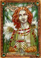 Cernunnos Sketch Card - Soni Alcorn-Hender by Pernastudios
