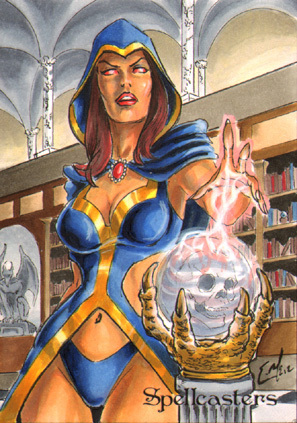 Spellcasters Sketch Card - Eric McConnell 3