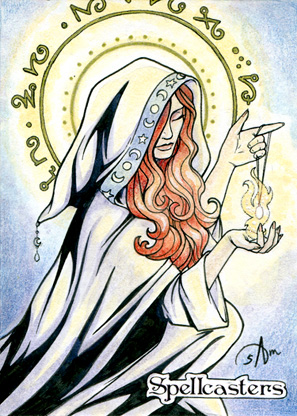 Spellcasters Sketch Card - Samantha Johnson 3