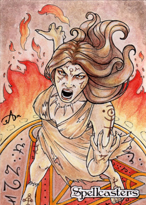 Spellcasters Sketch Card - Samantha Johnson 1