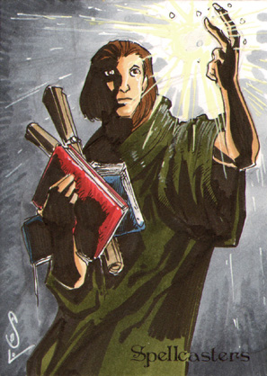 Spellcasters Sketch Card - Jason Sobol 1