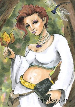 Spellcasters Sketch Card - Cynthia Narcisi 1
