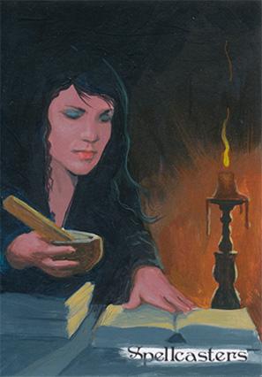 Spellcasters Sketch Card - Ingrid Hardy 1