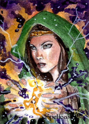 Spellcasters Sketch Card - Craig Yeung 2