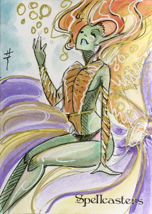 Spellcasters Sketch Card - Sara Richard 1