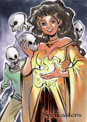 Spellcasters Sketch Card - Irma Ahmed 2
