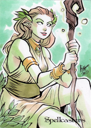 Spellcasters Sketch Card - Irma Ahmed 1
