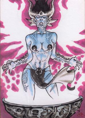 Spellcasters Sketch Card - Nestor Celario Jr. 3