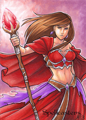 Spellcasters Sketch Card - Amy Clark 2